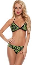 Sexy Green Leaf Bikini