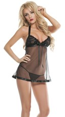 Not So Innocent Sheer Babydoll with G-String