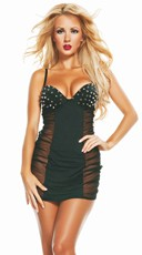 Spiked Sheer Chemise