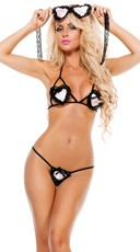 I Heart You Cut Out Bra and Panty Set