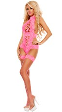 Royal Treatment Lace Up Halter Teddy