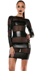 Strapped Down Mesh Blocked Dress