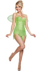 Deluxe Sequin Green Fairy Costume