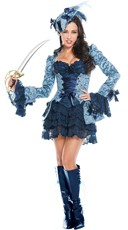 Blue Victorian Pirate Costume