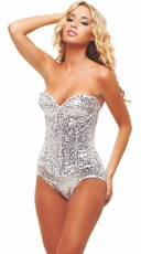 Sparkling Sequin Sweetheart Corset