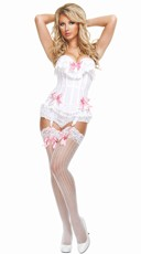 No Frills Cotton Lace Corset