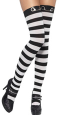 Striped Cop Stockings
