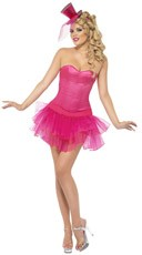 Hot Pink Burlesque Corset and Tutu Set