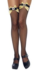 Clock Cog Fishnet Stockings