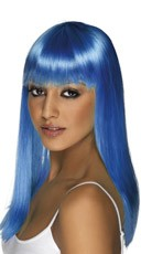 Neon Blue Glamourama Wig