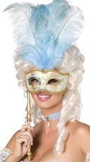 Blue Baroque Fantasy Mask