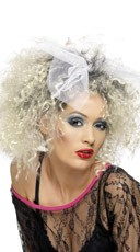 Frizzy Curl 80's Hairstyle Blonde Wig