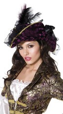 Purple And Black Marauding Pirate Hat