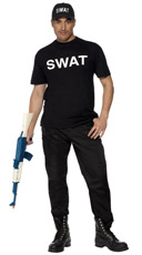 Men's Strapping S.W.A.T Costume Set