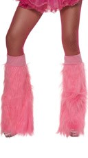 Neon Pink Furry Bootcovers