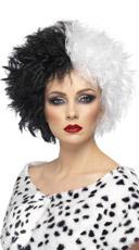 Sinister Cruella Black And White Costume Hair Wig