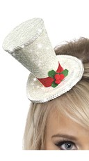 White Christmas Top Hat