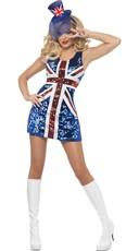 Sequin Union Jack Costume