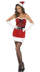 Fever Sequin Santa Dress