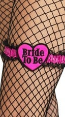 Pink and Black Bride To Be Garter