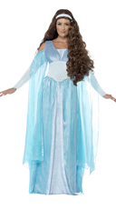 Light Blue Medieval Maiden Costume