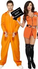 Orange Jumpsuit Couples Costume