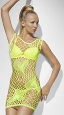Neon Green Heart Net Chemise