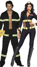 Red Hot Firefighter Couples Costume