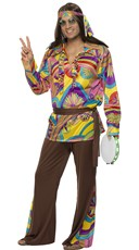 Men's Psychedelic Beatnik Costume