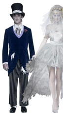 Gothic Wedding Couples Costume