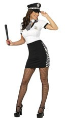 Sexy Checkered Cop Costume