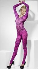 Pink Zebra Print Bodysuit