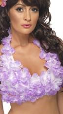 Hawaiian Flower Halter Top