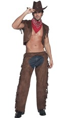 Men's Saddle and Straddle Cowboy Costume