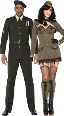 General Punishment Military Couples Costume