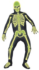 Men's Glow in the Dark Graveyard Skeleton Costume