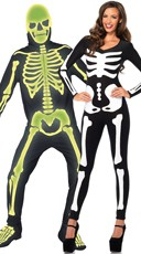 Glow In The Dark Skeletons Couples Costume