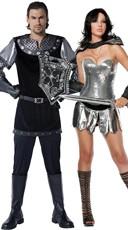 Metallic Warrior Couples Costume