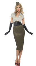 Plus Size Sexy Pin Up Army Darling Costume