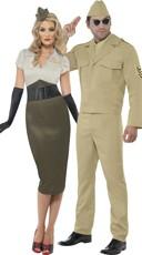 Retro Military Couples Costume