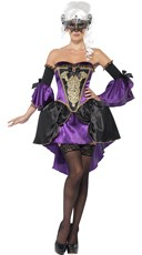 Sexy Midnight Hour Masquerade Costume