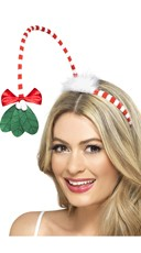 Kiss Me Mistletoe Headband