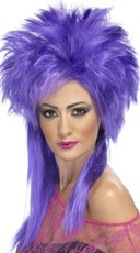 Purple Groovy Punk Chick Wig