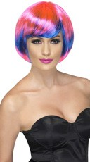 Pink and Blue Bob Wig