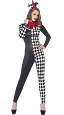 Two-Faced Harlequin Jester Costume