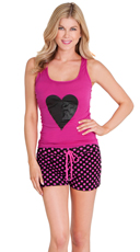 Polka Dot Love Affair Tank and Short Set