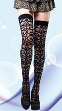 Scrollwork Crochet Thigh Highs