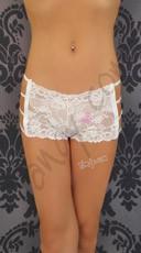 Lace Boyshort with Open Side & Rhinestones