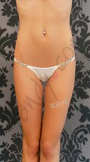 Lace Thong With Buckle Front