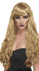 Long Blonde Curled Wig